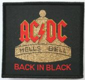 AC/DC - 'Hells Bell Back in Black' Woven Patch